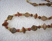 Stone and Wood  Jewelry set