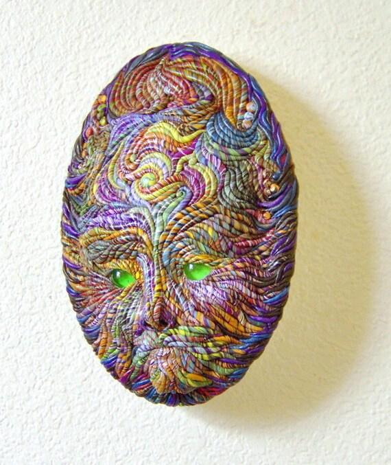 Cosmic Tot Spirit Face Mask Sculpture OOAK