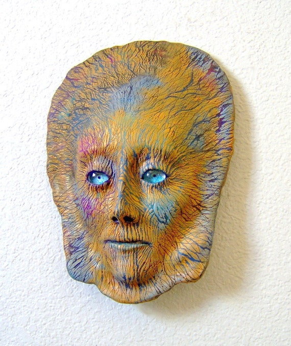 Father Earth Face Mask Sculpture