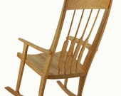 Rocking Chair Solid Wood Handmade Organic Finish Contemporary modern design maloof inspired