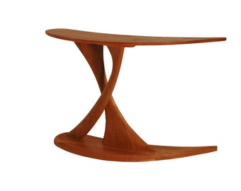 Cantilever Console Table Solid Wood Handmade Organic Finish Contemporary modern design