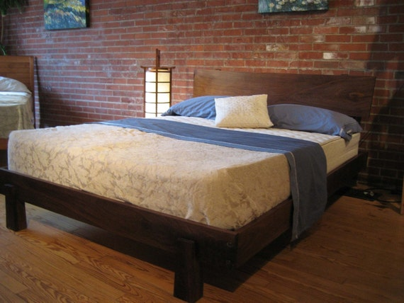 Walnut Enso Bed Queen Size
