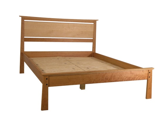 Enso Bed II Queen Size Birdseye Maple Accents.