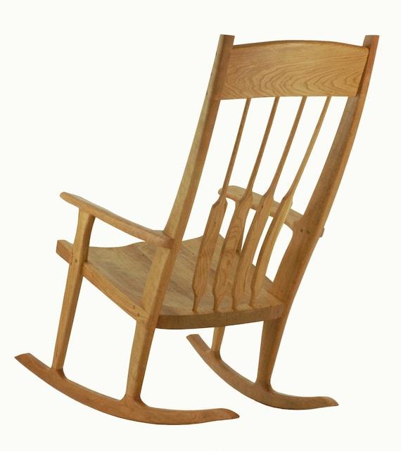 Rocking chair solid wood handmade organic finish contemporary modern