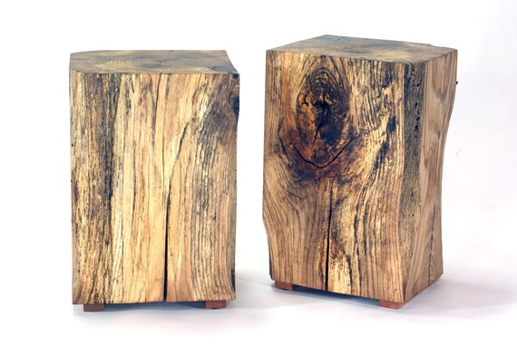 Table Reclaimed Beam wood Plant stand side table