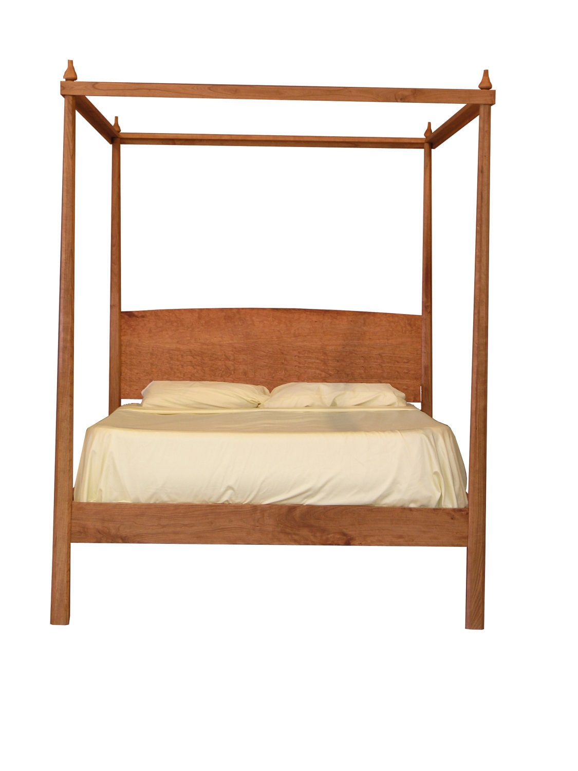 pencil post bed with canopy platform bed solid by tyfinefurniture