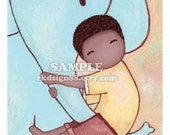 Fun - African - Cute Nursery Art Print  for Baby Boy Children
