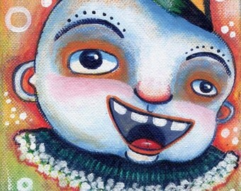 Painting Acrylic Original Clown Fish Boy
