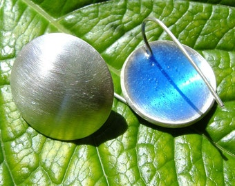 Silver and resin earrings - custom color