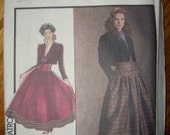 UNCUT STYLE PATTERN JACKET AND FULL SKIRT