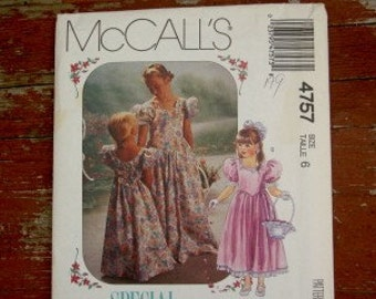 MCCALLS SPECIAL MOMENTS JUNIOR BRIDESMAID DRESS GOWN SIZE 6