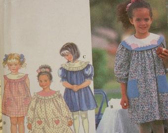 Simplicity 3 Style Dress Pattern uncut Size 5,6,6x