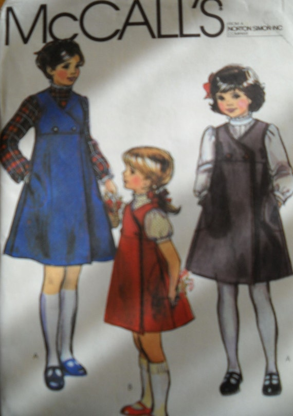 Girls Size 7 8 and 10 Jumper and Blouse Uncut Pattern