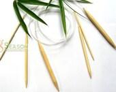 FREE SHIPPING 15PS 100cm Bamboo Circular Knitting Needle US size 0-15