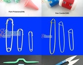FREE SHIPPING Set of 6 Knitting Accessories