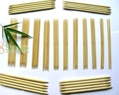 FREE SHIPPING 15 Size New Bamboo Knitting Needles DP 8 inch US 0-15