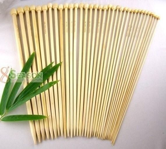 FREE SHIPPING 17Size Pairs Bamboo Knitting Needles SP13.5'' UK14-000