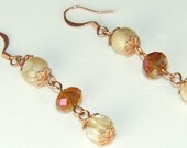 Jewelry Tutorial Earrings Vintage Style Mother of Pearl Crystals  Copper Findings PDF File