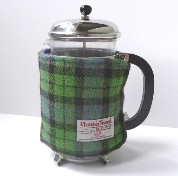 Cafetiere Cosy - Green/Lilac Plaid