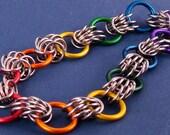 Rainbow Lightweight Chainmaille Bracelet