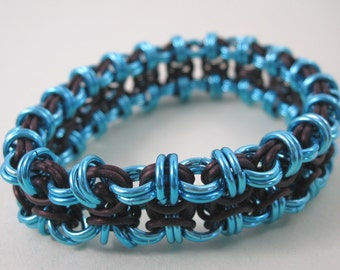 Stretchy Chainmaille Beez 2 Butterflies Bracelet