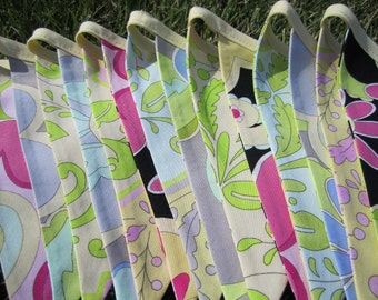 SALE - Colorful EXTRA LONG 14 Flags Fiesta Playroom, Baby Shower, Wedding, Garden Party Bunting