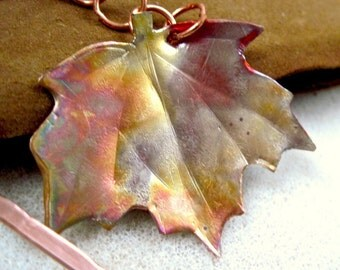 Bookmark, Fall Maple Leaf, Rustic Copper, Bookworm Gift, Autumn Leaves, Eco Friendly Metal Bookmark, Hammered Metalwork