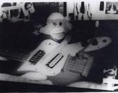 3.5x5 Sockmonkey Hendrix mini-Postcard