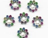 Crystal Findings - Multicolor Pastel Rhinestone Jackets