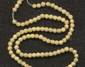 Vintage 3mm Taupe Satin English Cut Beads - 100 Pcs. Tiny Glass Beads