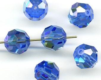 Vintage Sapphire AB Beads 10mm Swarovski - Art. 5000