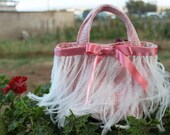 Dressing Up Feather Mini Tote