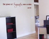 The power of imagination makes us infinite - Quote - Wall Decals - Your Choice of Color