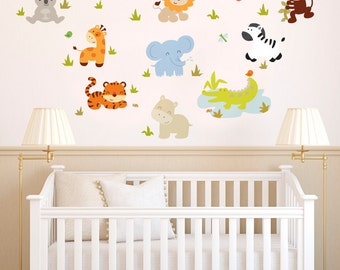 Baby Zoo Animals - Full Color - Printed Wall Decals