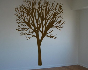 Giant 8 foot tall Barren Tree Decal - Vinyl Wall Decal - Your Choice of Color