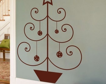 Simple Christmas Tree with a Star - Wall Decals - Your Choice of Color