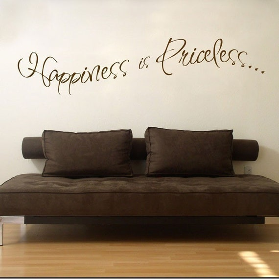 Happiness is Priceless - Wall Decals - Your Choice of Color