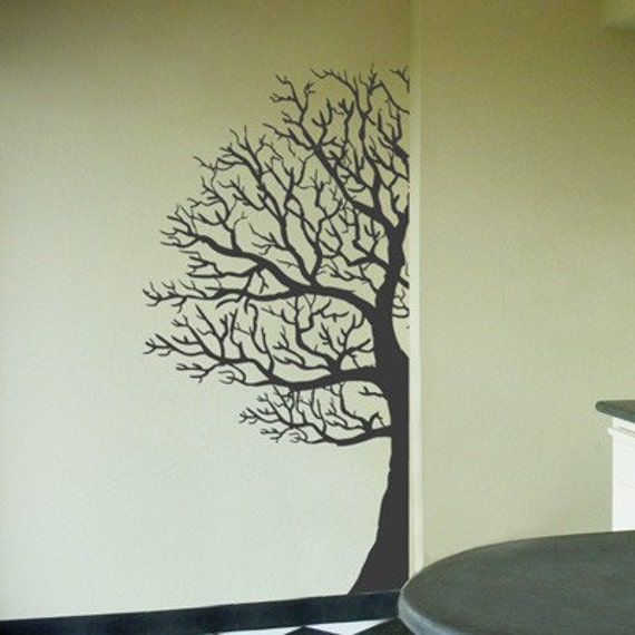 Winter Tree - Made for the Corner - Wall Decals - Your Choice of Color