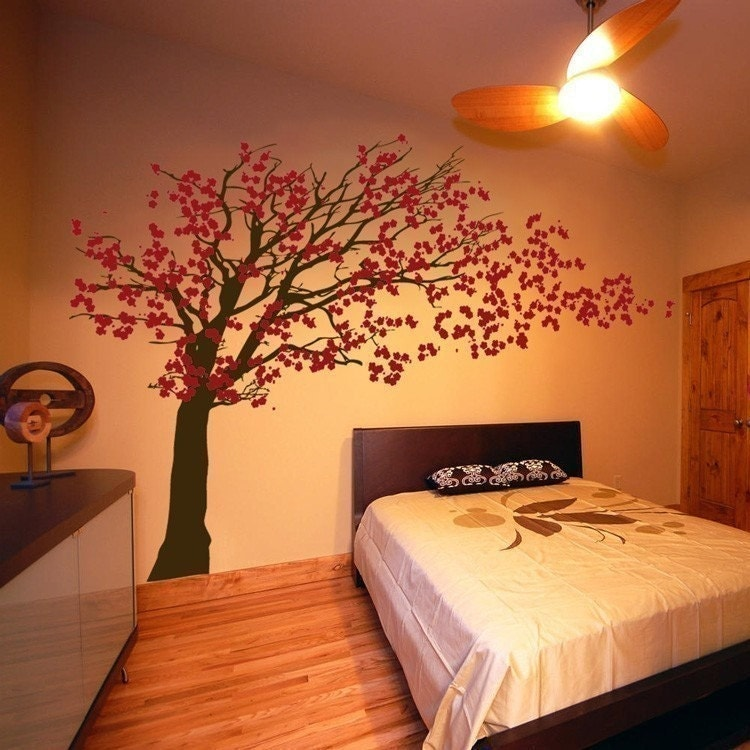 Cherry Blossom Tree Blowing In The Wind Wall Decals Your