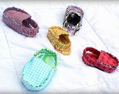 INSTANT DOWNLOAD Frayed Baby Shoe sewing pattern PDF loafers moccasins booties slippers sandals tutorial boy girl diy shower gift epattern
