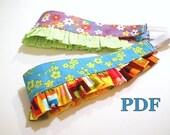 Reversible Headband with Ruffle Pattern PDF baby toddlers girls tweens women easy diy gift idea handmade