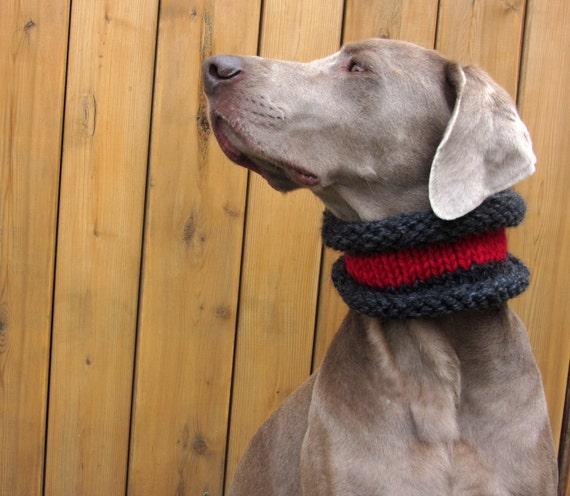 MOD DOG Hand Knit Dog Cowl in Campfire