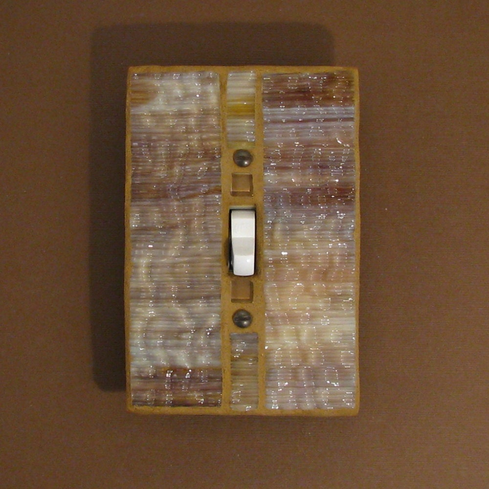Stained Glass Switch Plate Cover Mosaic By Judyevanscollection