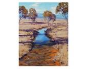 ORIGINAL FINE ART Hartley Australia Traditional Landscape oil painting by G.Gercken Award winning Artist