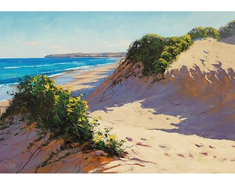 Beach Dune PAINTING  Impressionist Seascape by Graham Gercken