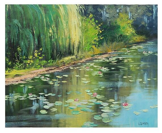 ORIGINAL FINE ART Australian Gums Traditional Landscape oil painting by G.Gercken Award winning Artist