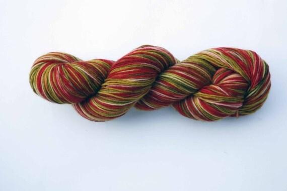 PurrrfectSock Machine Washable 100 Percent British BFL- Colourway- Rhubarb