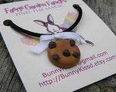 CLEARANCE SALE - Kawaii Chocolate Chip Cookie Necklace