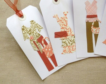 Large Gift Tags Peach and Gold