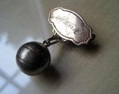Antique Basketball Brooch / Pin